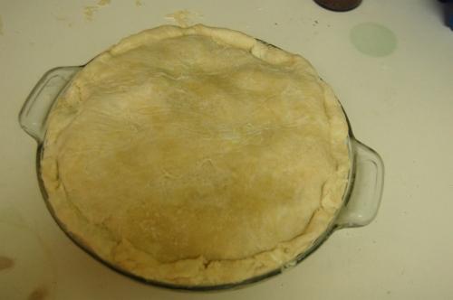 Apple pie with crust