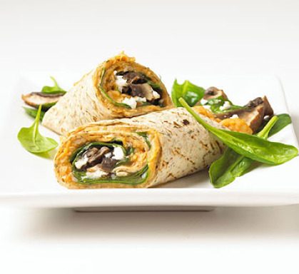 Portobello wrap with white bean-chili spread from Better Homes and Gardens