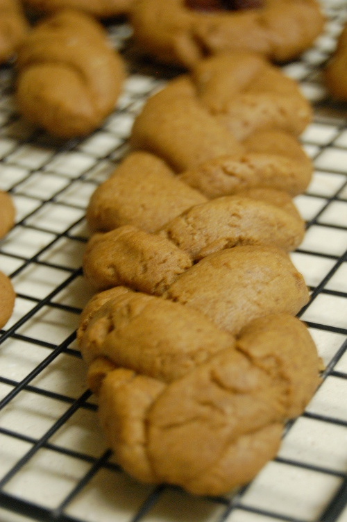 Homemade braided gingerbread cookie