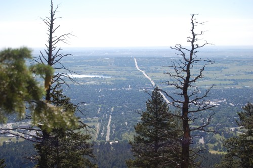 At the top of the Flatirons in Boulder, CO