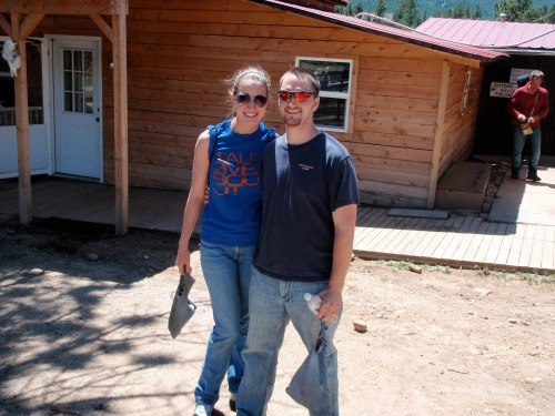 Stephen and I after horseback riding