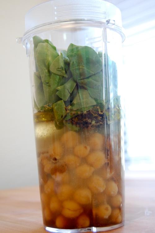 spinach garbanzo oil - bonjourHan.com