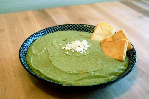green spinach hummus - bonjourHan.com
