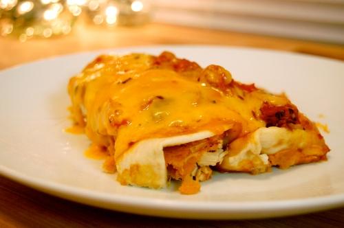 leftover turkey enchilada - bonjourHan.com