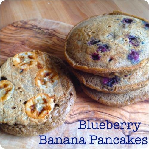 Blueberry Banana Pancakes ~ bonjourHan.com